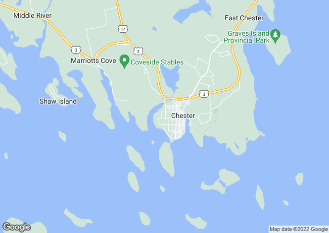 Map for Nova Scotia, Chester