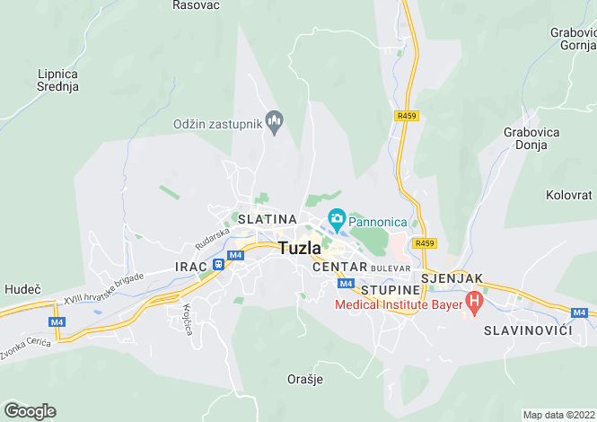Map for Tuzla, Federacija Bosna i Hercegovina