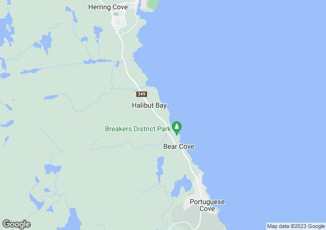 Map for Nova Scotia, Sambro