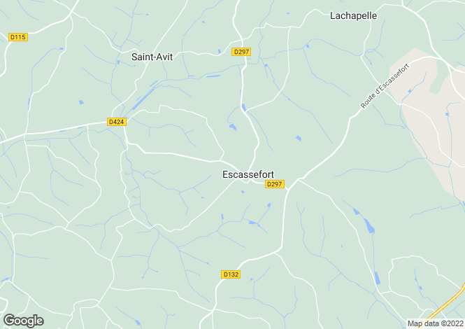 Map for Escassefort, Aquitaine, France