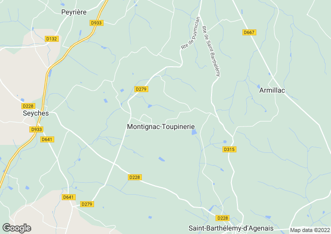 Map for montignac-toupinerie, Lot-et-Garonne, France