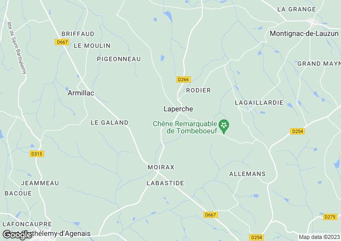 Map for Secteur: Miramont de Guyenne, Lot et Garonne