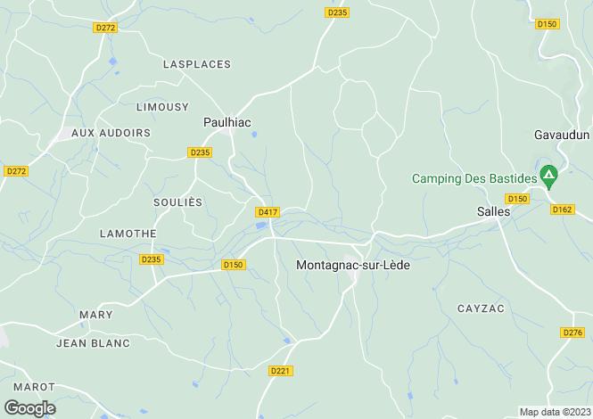 Map for Aquitaine, Lot-et-Garonne, Paulhiac