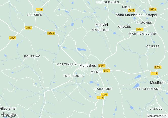 Map for Aquitaine, Lot-et-Garonne, Monbahus