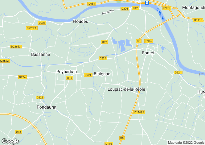 Map for Secteur: Blaignac, Gironde