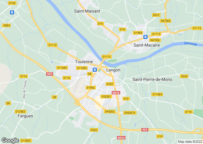 Map for LANGON, 33720, France