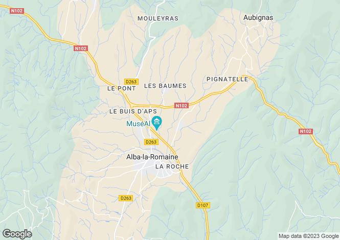 Map for alba-la-romaine, Ardèche, France
