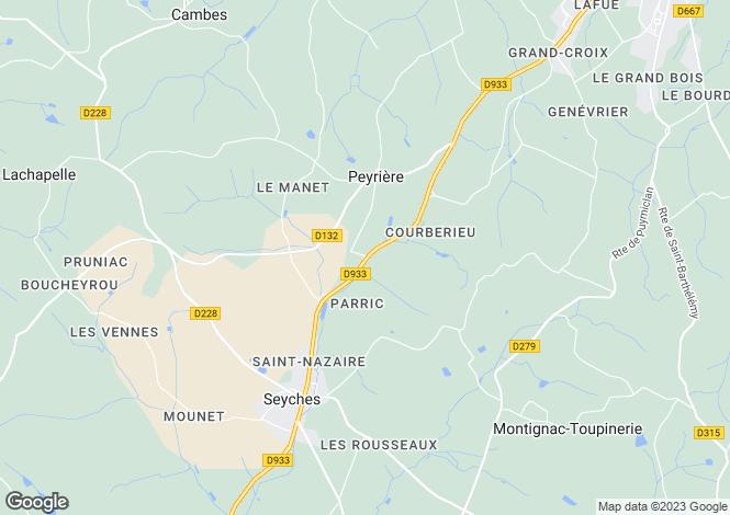 Map for peyriere, Lot-et-Garonne, France