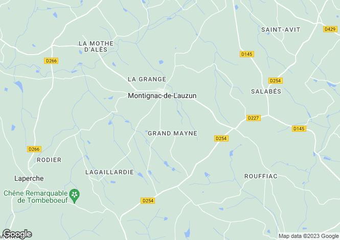 Map for MONTIGNAC DE LAUZUN, 47800, France