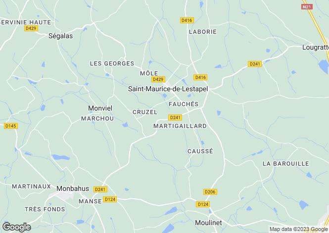 Map for SAINT MAURICE DE LESTAPEL,
