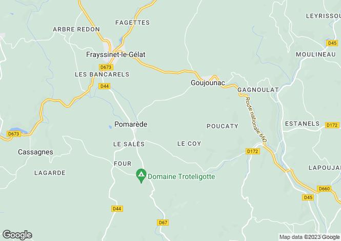 Map for Midi-Pyrénées, Lot, Pomarède