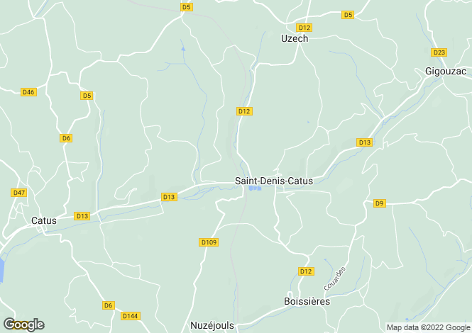 Map for st-denis-catus, Lot, France