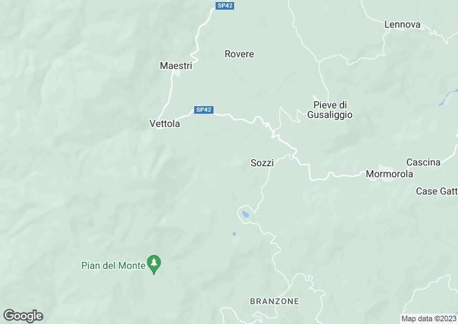 Map for Valmozzola, Parma, Italy