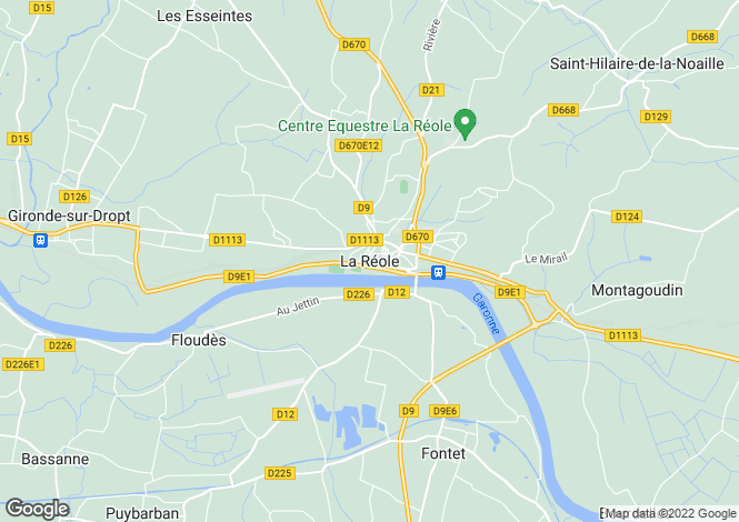 Map for Secteur: La Reole, Gironde