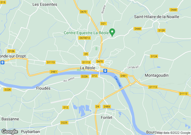Map for La Reole, Gironde