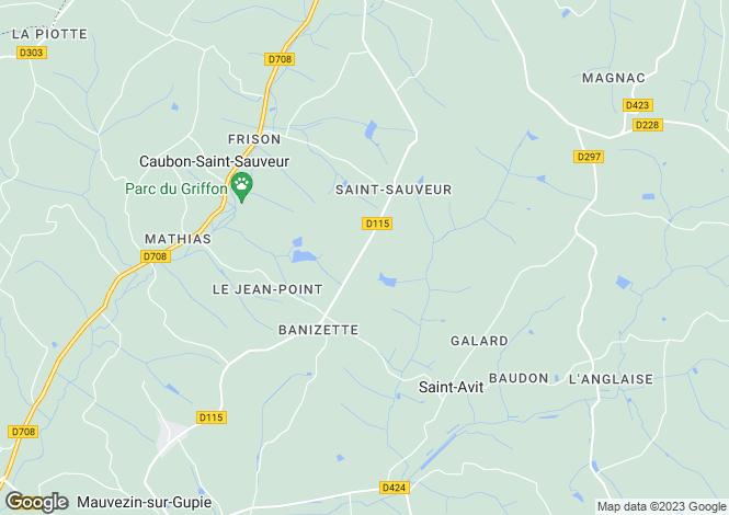 Map for Nr Duras, Lot et Garonne