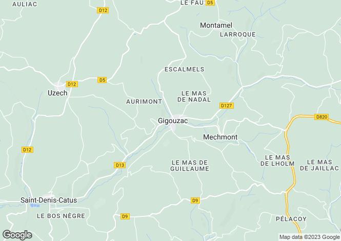 Map for GIGOUZAC, 46150, France