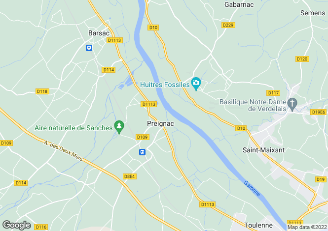 Map for preignac, Gironde, France