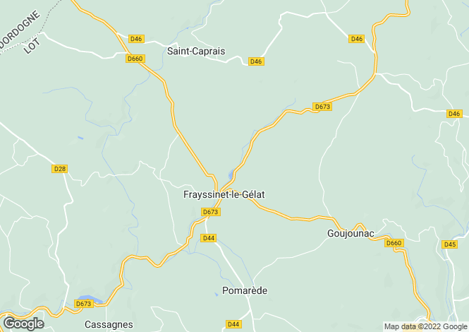 Map for Frayssinet-le-Gélat, Lot, Midi-Pyrénées