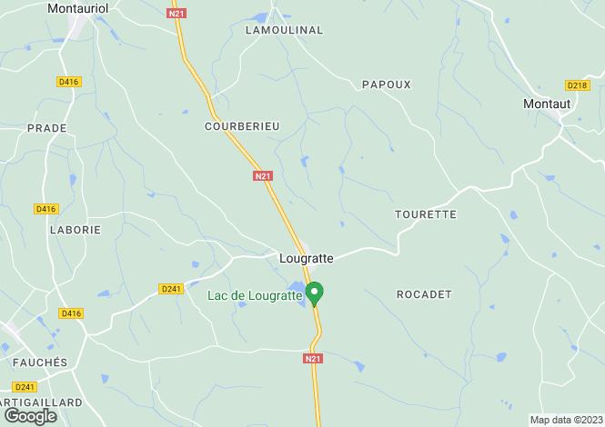 Map for Aquitaine, Lot-et-Garonne, Lougratte