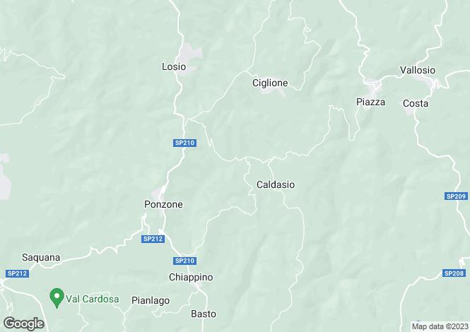 Map for Piedmont, Alessandria, Ponzone