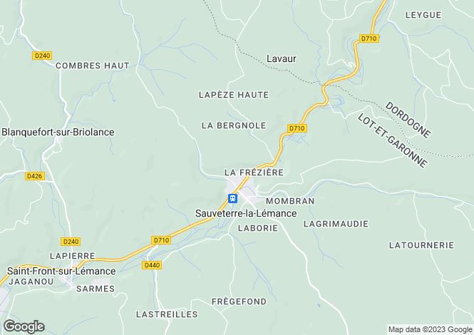 Map for Sauveterre-la-Lemance, Lot-et-Garonne, 47500, France