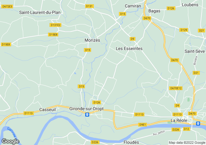 Map for , Gironde, France