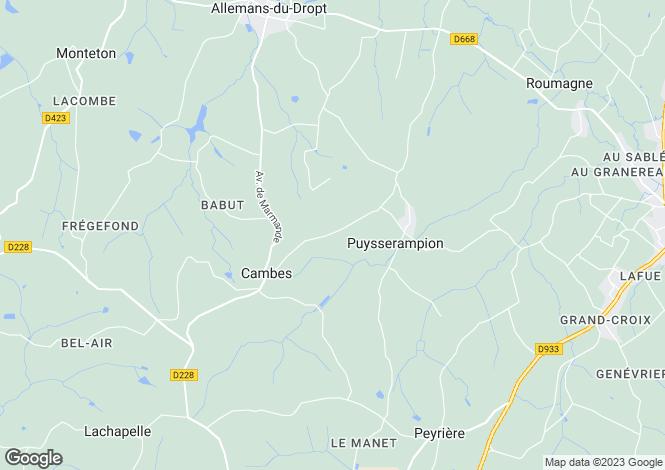Map for Aquitaine, Lot-et-Garonne, Puysserampion