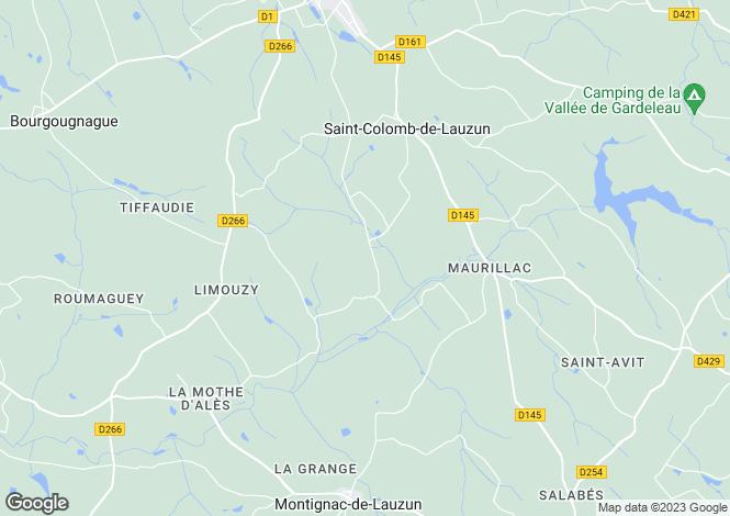 Map for Saint Colomb De Lauzun, France