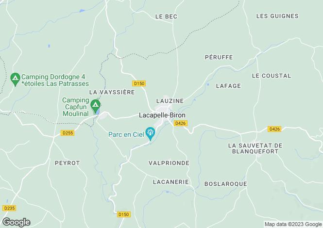 Map for Lacapelle-Biron, Lot-et-Garonne, Aquitaine