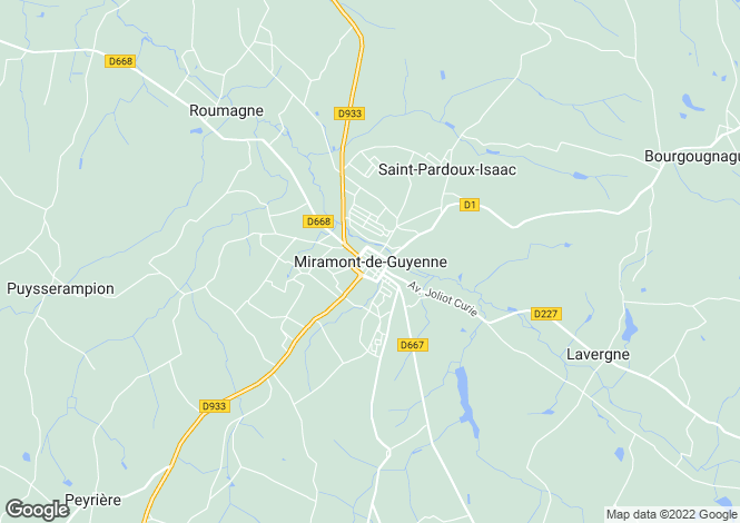 Map for Secteur: Miramont-de-Guyenne, Lot-et-Garonne