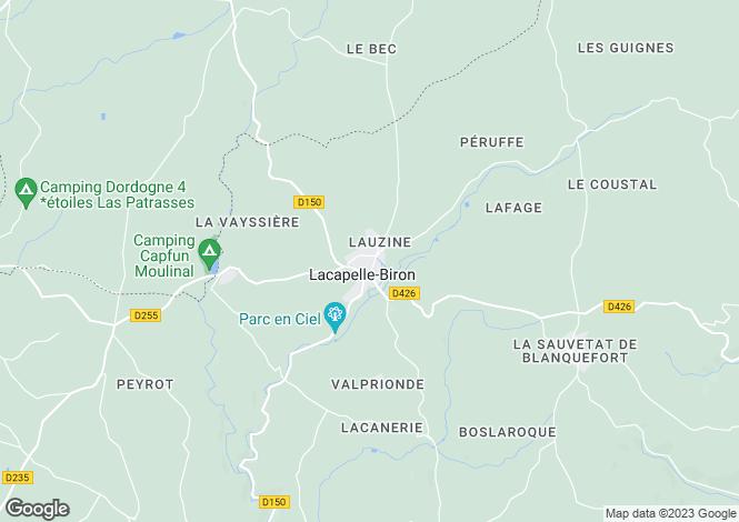 Map for Lacapelle-Biron, Lot-et-Garonne