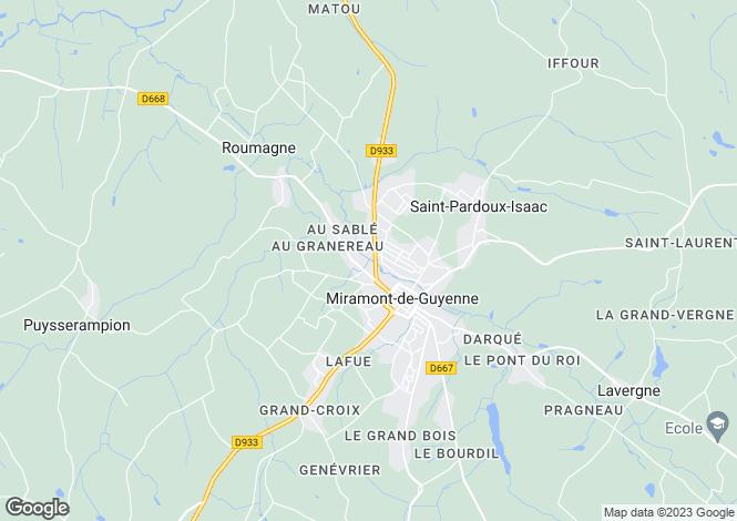 Map for Equestrian Property, Eymet Area, Dordogne, France