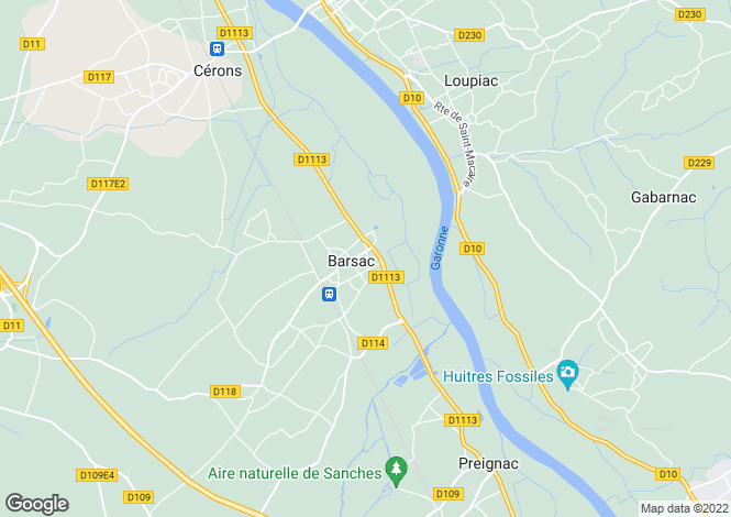 Map for barsac, Gironde, France