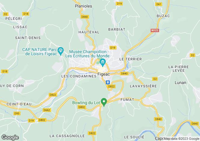 Map for Secteur: Figeac, Lot