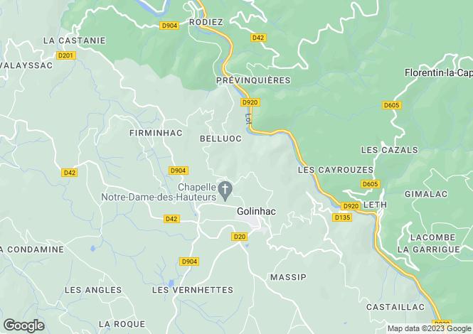 Map for 12140 golinhac