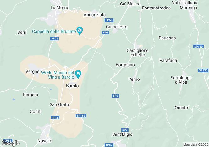 Map for Monforte d`Alba, Cuneo, Piedmont