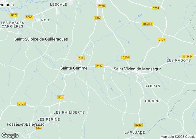 Map for ste-gemme, Gironde, France