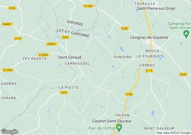 Map for nr-levignac-de-guyenne, Lot-et-Garonne, France
