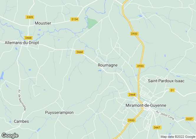 Map for Roumagne, Aquitaine, 47800, France