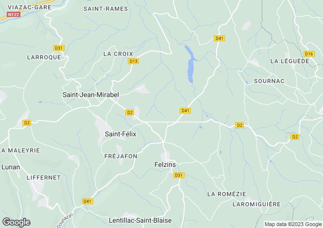 Map for Midi-Pyrenees, Lot, Felzins