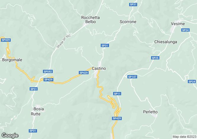 Map for Cortemilia, Cuneo, Piedmont
