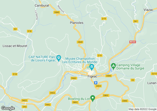 Map for Near Figeac, Lot, Midi-Pyrenees