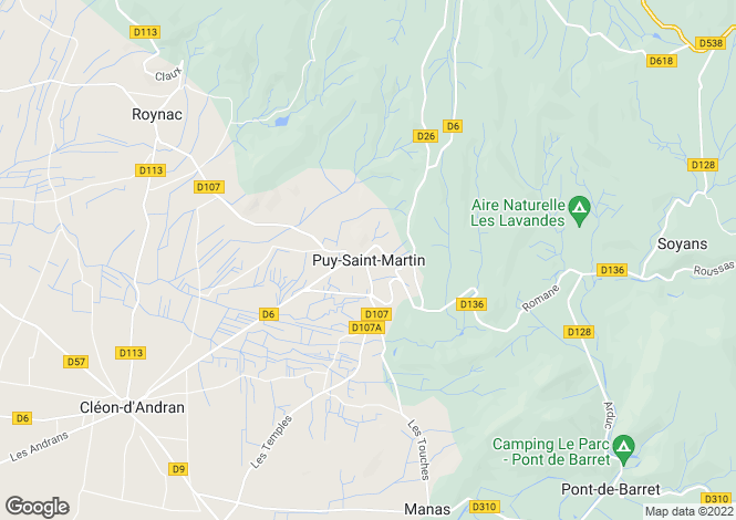 Map for Puy-Saint-Martin, Rhone-Alpes, 26450, France