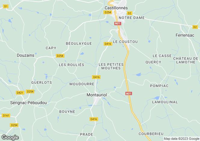 Map for Montauriol, Lot-et-Garonne, Aquitaine