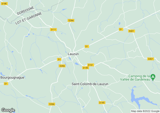 Map for lauzun, Lot-et-Garonne, France