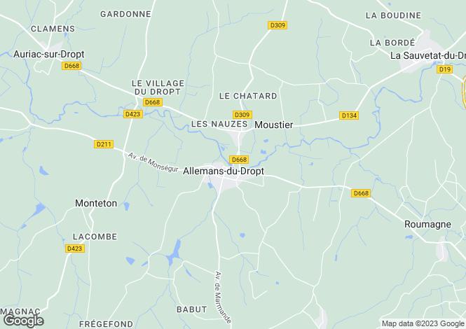 Map for Allemans du Dropt, Lot-et-Garonne, 47800, France