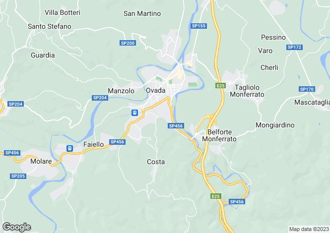 Map for Ovada, Alessandria, Piedmont