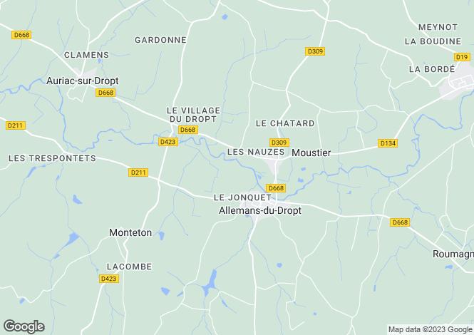 Map for Aquitaine, Lot-et-Garonne, Allemans-du-Dropt