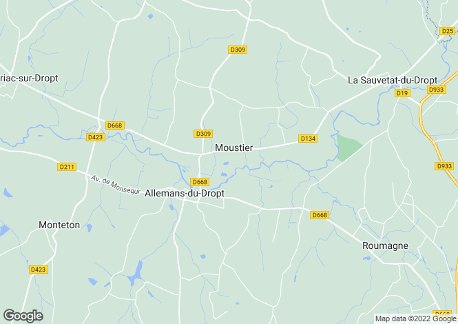 Map for MOUSTIER, Lot et Garonne, S.W France - Aquitaine,